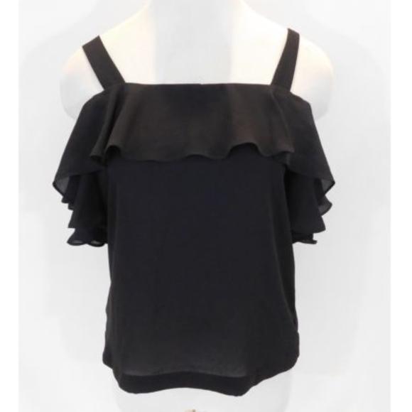 S J.Crew Factory Ruffle Bodysuit NWT US Women's Size M XS